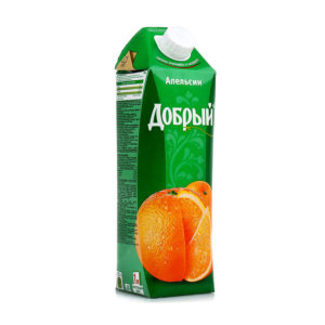 """Сок """"Добрый"""" 1л апельсин"""